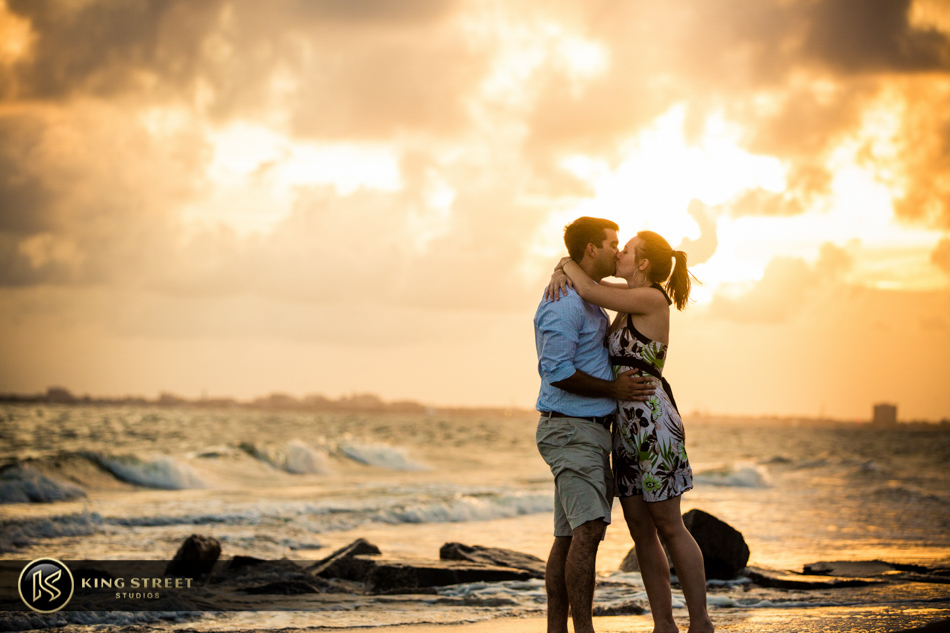 engagement pictures in sullivans island by charleston wedding photographers king street studios