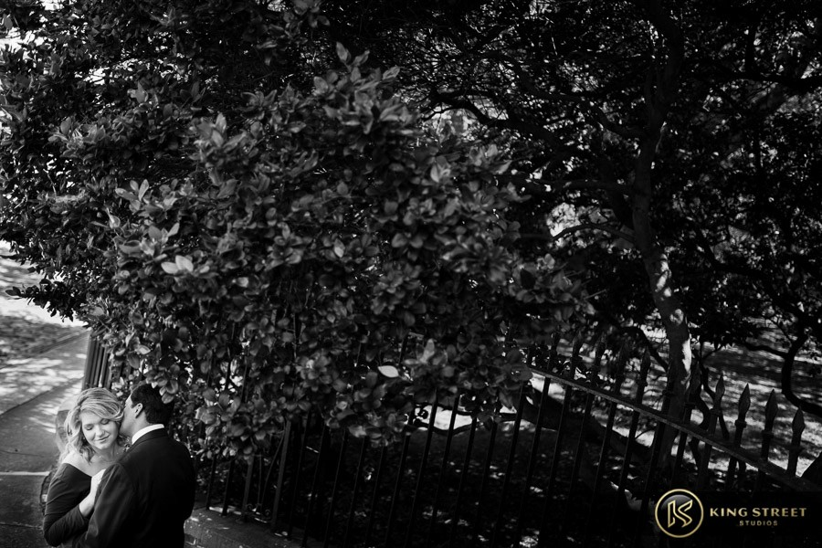 engagement pictures by charleston wedding photographers king street studios  (824)