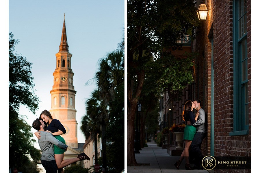 engagement pictures by charleston wedding photographers king street studios  (837)