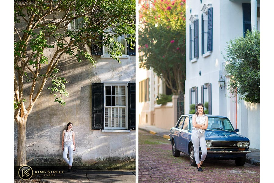 high school senior portraits downtown charleston by charleston senior portrait photographers king street studios